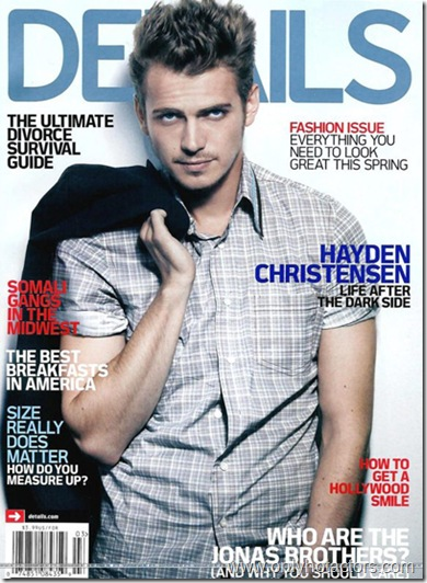 HAYDEN CHRISTENSEN  'DETAILS' MARCH 2008