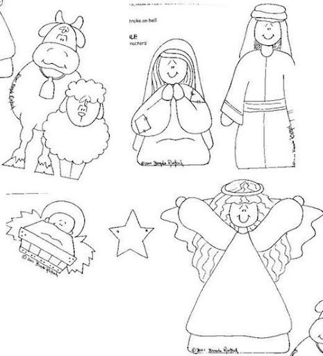 Manualidad Navidad para niños nacimiento con plantillas | fiestas ...