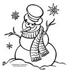 muñecos nieve colorear (2)