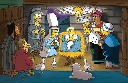 Navidad, pesebre con los Simpson | fiestas de Navidad