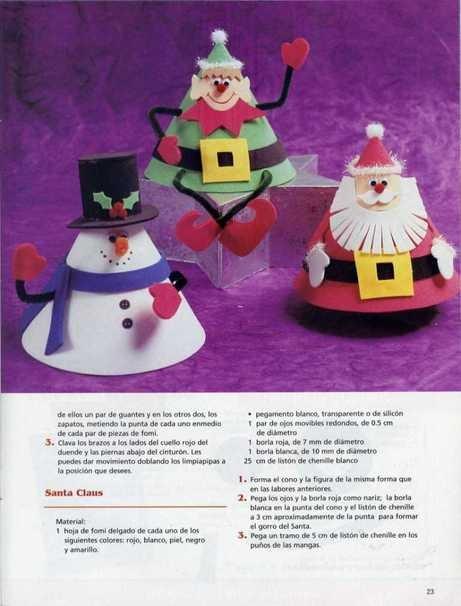 Manualidades conos decorativos para navidad en foami - Manualidades para navidades ...