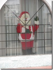 5250 Santa in Window Ramada Inn South Padre Island Texas