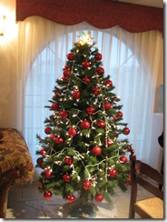 5472 Christmas Tree in Lobby of Ramada Inn South Padre Island Texas