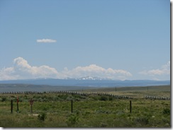 1449 View of Mountains between Medicine Bow & Hanna WY