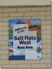1950 Welcome to the Salt Flats West Rest Area UT