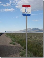2042 US 93 Lincoln Highway Sign at Lages Junction NV