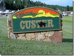 6312 Welcome to Custer South Dakota