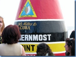 7330 Key West FL - Conch Tour Train - Southernmost Point Marker