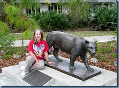 7382 Everglades National Park FL- Ernest F. Coe Visitor Center - Karen & Florida Panther statue