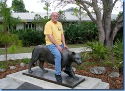7383 Everglades National Park FL- Ernest F. Coe Visitor Center - Bill & Florida Panther statue