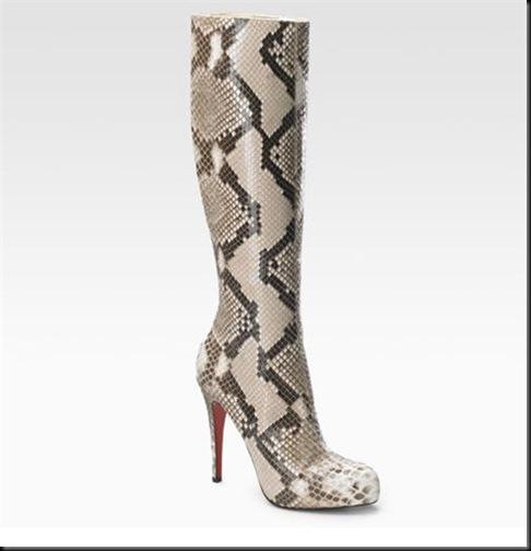 HOT!Christian Louboutin Alta Arielle A Talon Python Boots