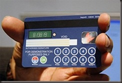 Novo cartão Visa