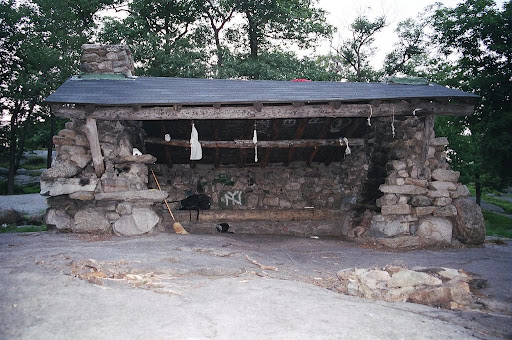 Shelter auf dem Appalachian Trail in New York State