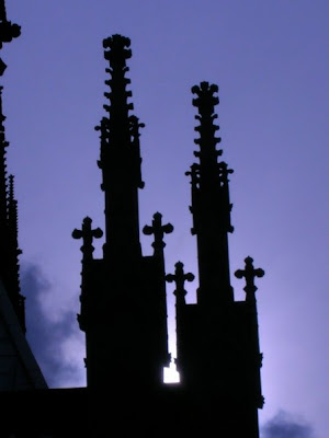 Germany - a beautiful cathedral against the sky at dusk