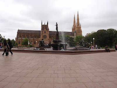 The famous twin spires of St. Mary's Cathedral are a familiar Sydney landmark