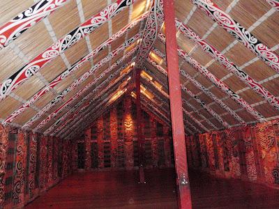 Inside a Maori Meeting Place