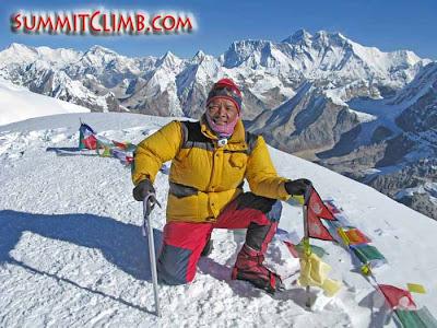 Dawa Sherpa on Mera Summit (Courtesy of SummitClimb)