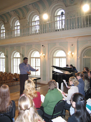 Dress Rehearsal in Rachmaninoff Hall of Moscow Conservatory