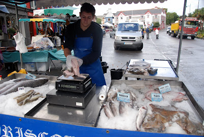 Fish seller, Kenmare Market, Ireland