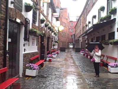 Cathedral Quarter on a rainy day, Belfast