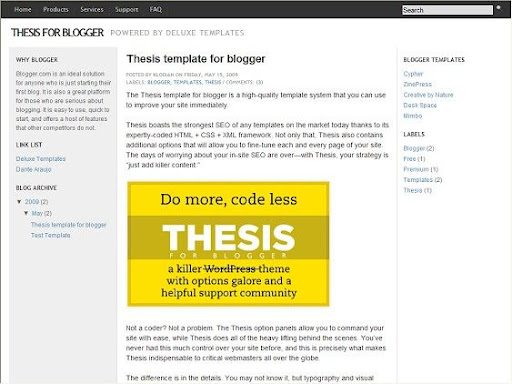 thesis theme options Thesis skin is a part of the thesis theme it's like a child theme it is a very good tool that thesis team has developed to know more about thesis skins goto you can read more info at the thesis skin manager page.