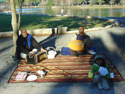 Devotees Chant at Tallahassee's Lake Ella