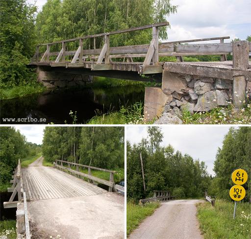 Träbro över fyrisån, Viken