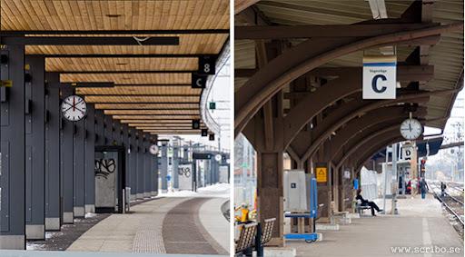 Uppsala Resecentrums perronger före och efter ombyggnaden