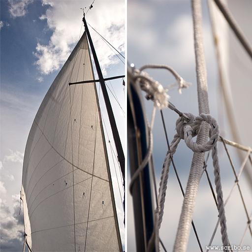 Detaljer på segelbåt