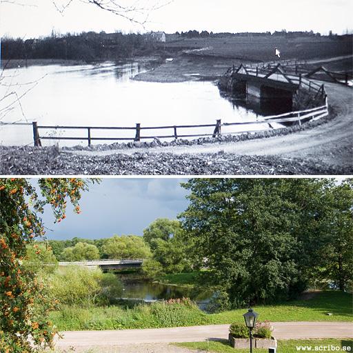 Skärmansbro 1927 och idag