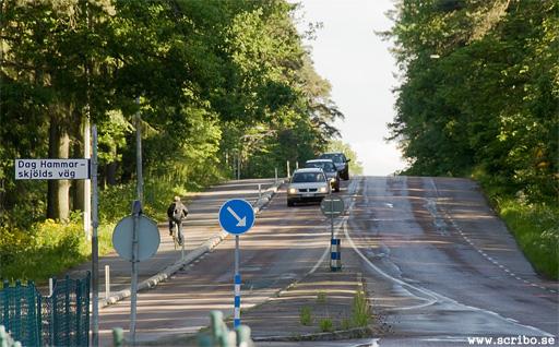 Höjden Knäppingen söder om norra infarten till Ulleråker