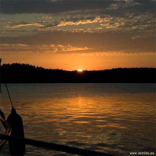 Solnedgån på Björkö