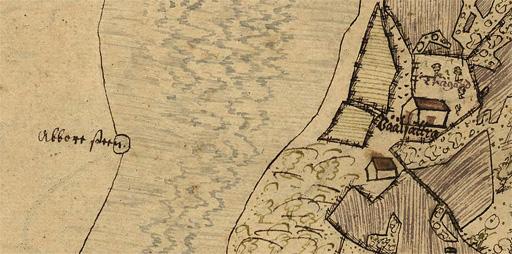 Abborrstenen i Vårdsätraviken, karta från 1635