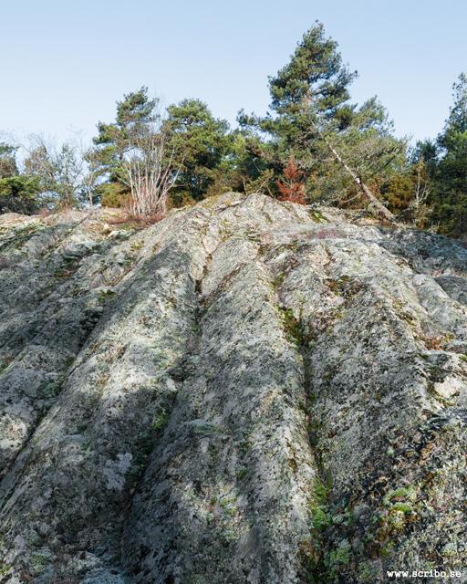 bakningar i berget av Uppsalagranit