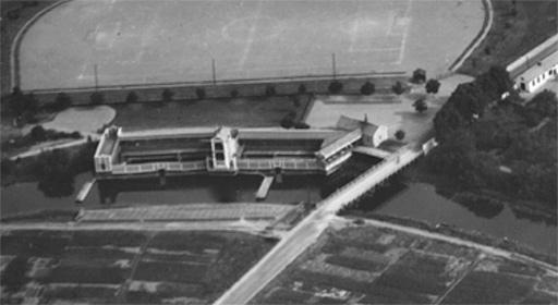 Fyrisvallsbron och kallbadhuset 1947