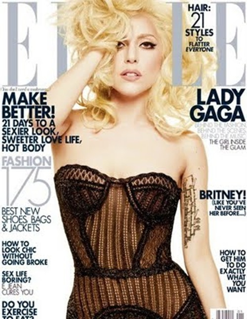 Lady Gaga Elle cover full size
