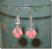 aquamarine and pink glass set4