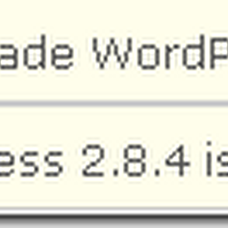 WordPress 2.8.4 Installation