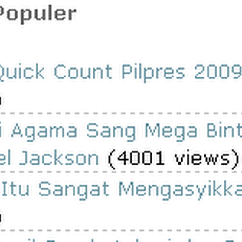 Masih Ada Yang Mencari Hasil Quick Count Pilpres 2009
