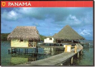 Postcard Bocas del Toro Viviendas Tipicas