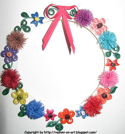 Quilling Art designs - Quilling 3D floral pattern with scrolls