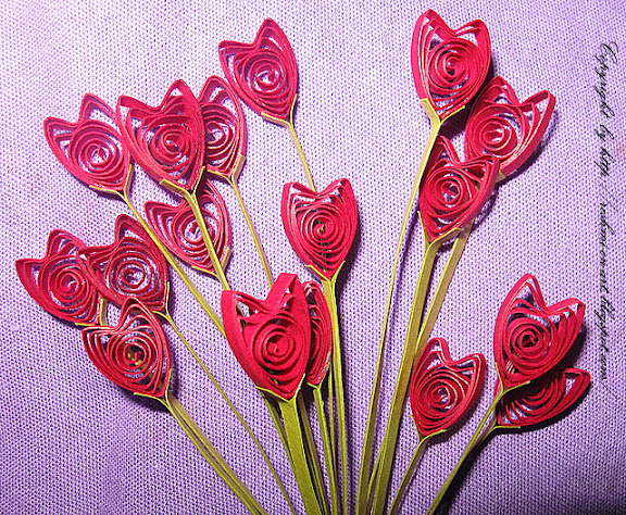 Quilled-Heart-Shaped-Flowers