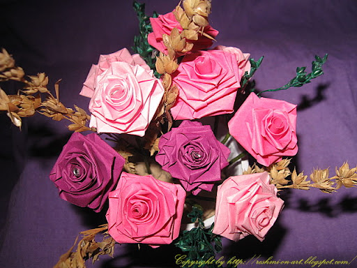 paper flowers craft. Quilling-paper-Rose-flowers