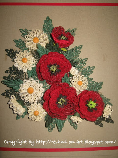Quilled-poppies-daisies