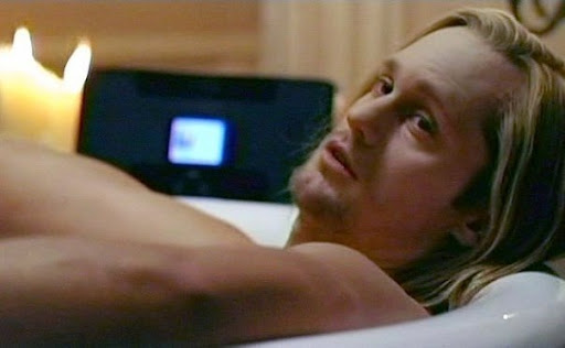 true blood eric and bill. Eric in Bill#39;s bathtub in True