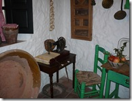 Sewing workspace in museum