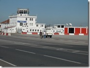 RAF Gib buildings at end of runway