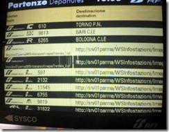 Quadro treni RFI con destinazioni http://