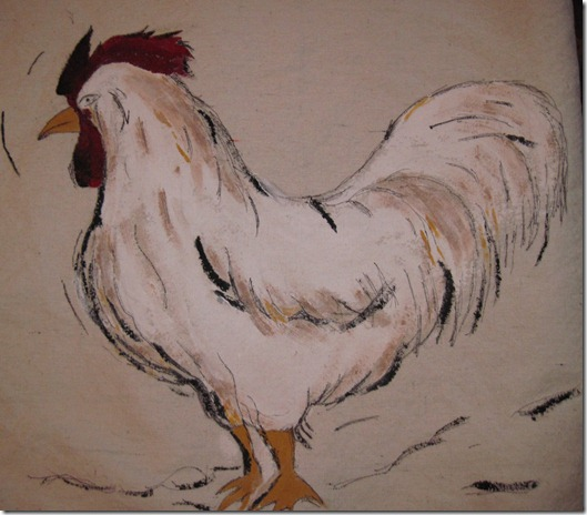 rooster pillow painting 022