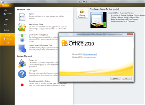 Use Microsoft Office Outlook 2010